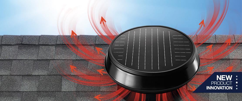 Whole house fan brings in fresh cool air.
